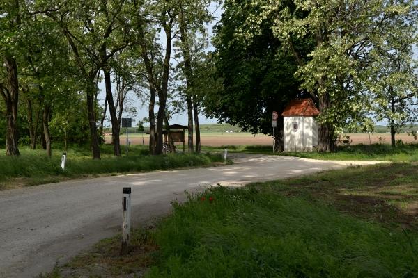 kaplička na hranicích, pohled z rakouské strany do čech
