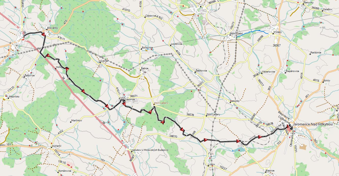 Stezka O. Březiny, třetí část trasy