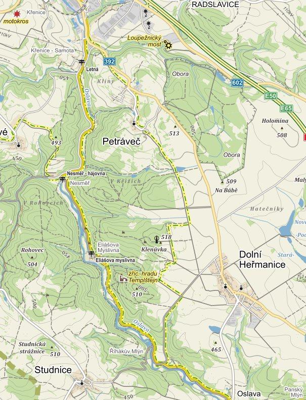 Plánovaná trasa, NS zcela vpravo