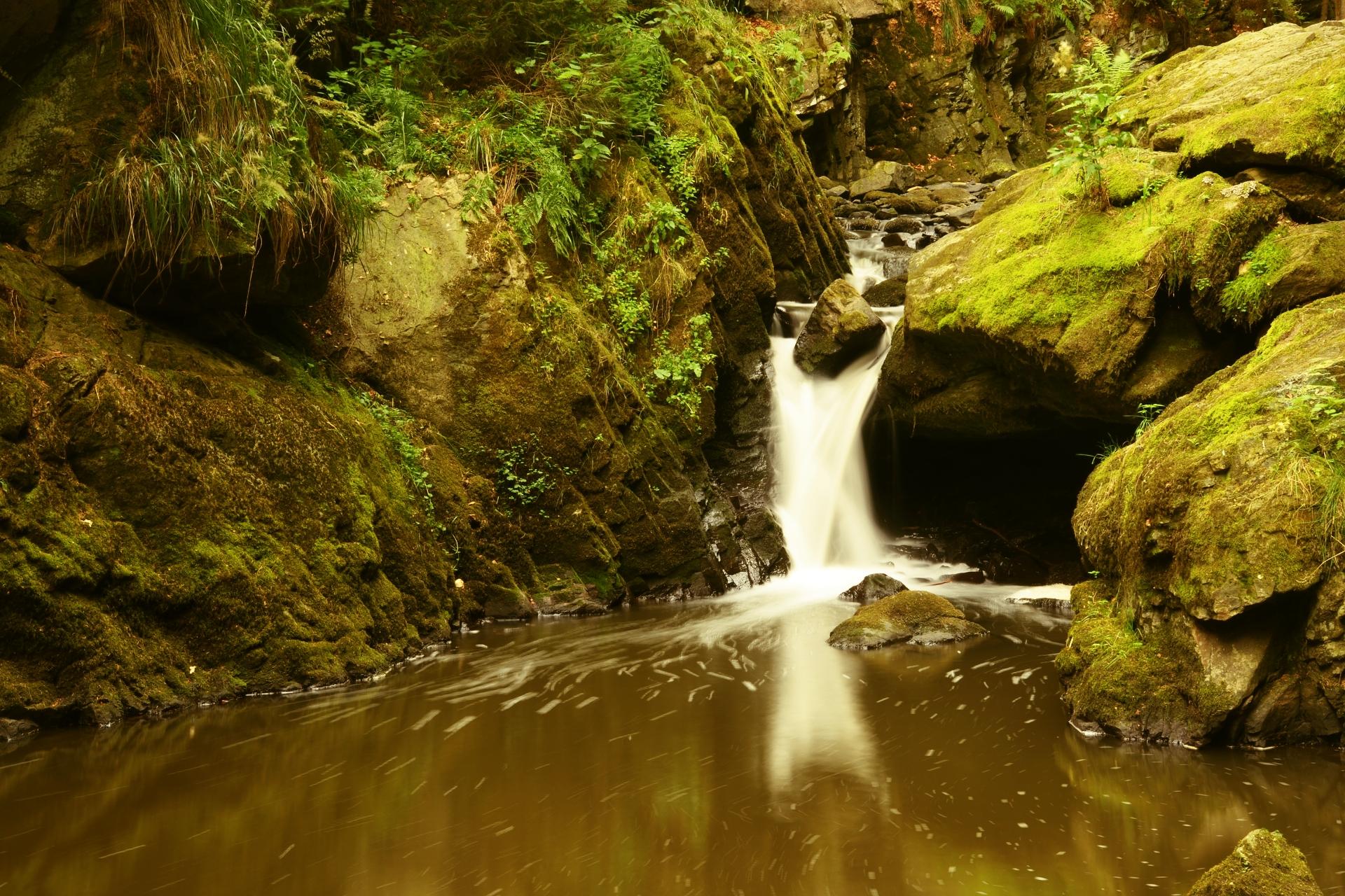 Nejznámější vodopád na Doubravě