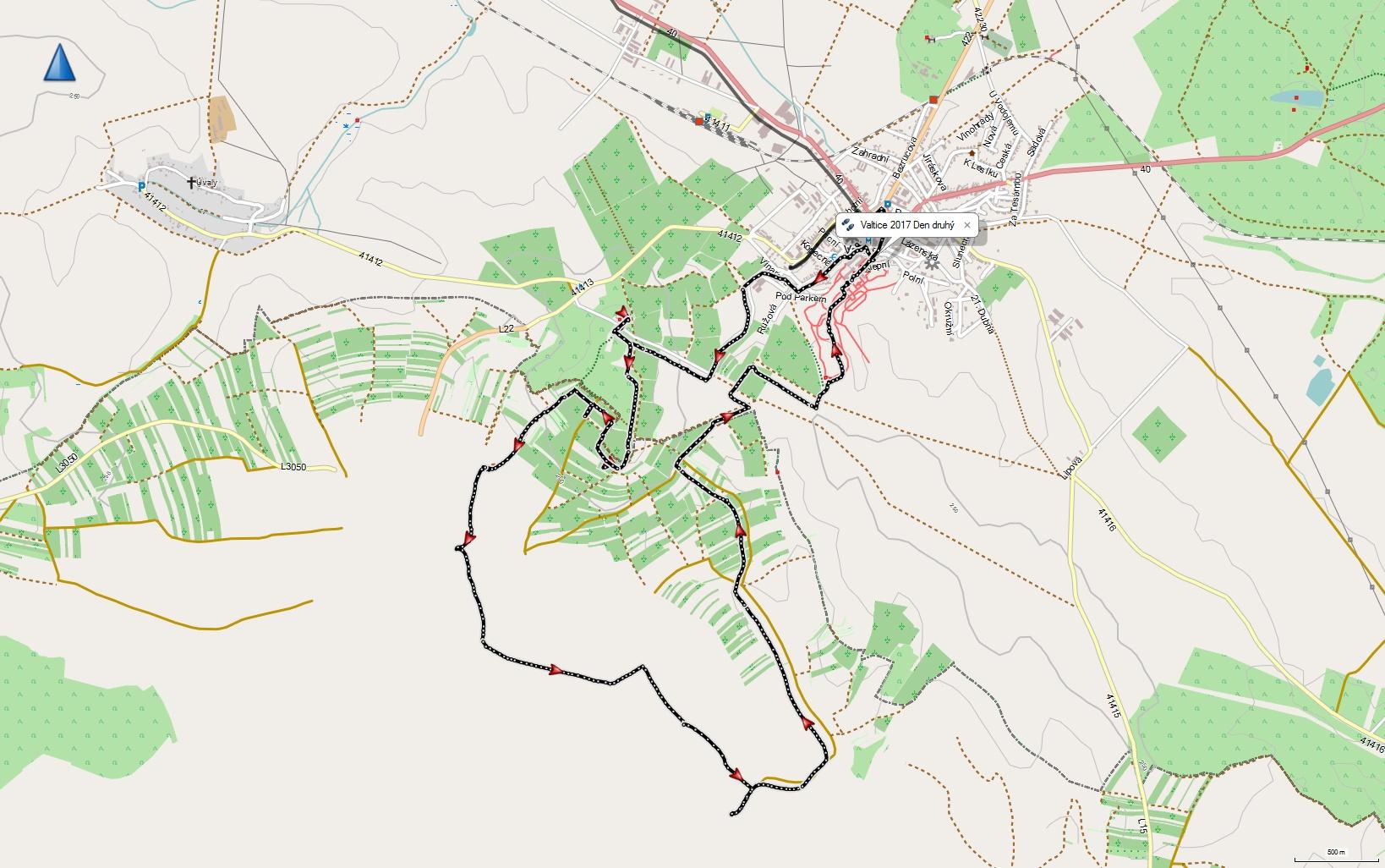 Druhý den 16 km