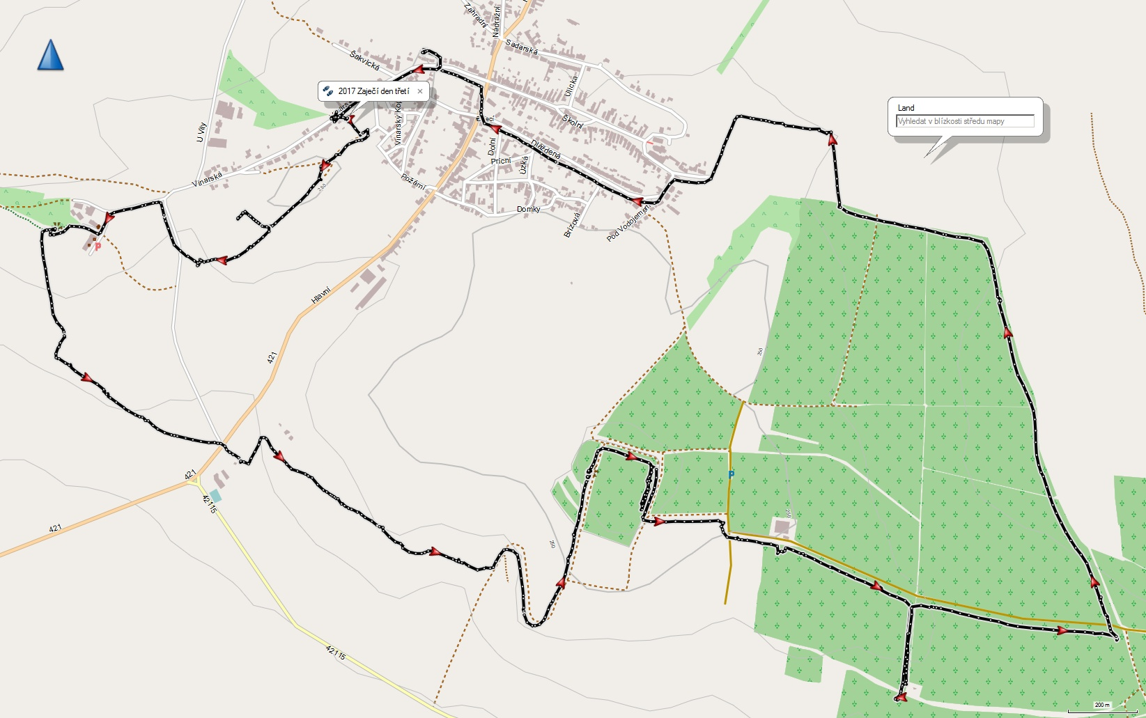 Třetí den 12 km